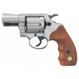 Revolver exp. Colt Detective Special nickel/wood, kal. 9mm