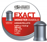 JSB Diabolo Exact Monster kal.4.52mm; 400 ks