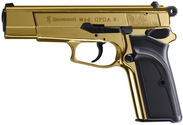 Pištoľ exp. Browning GPDA 9 Gold Finish, kal. 9mm PA