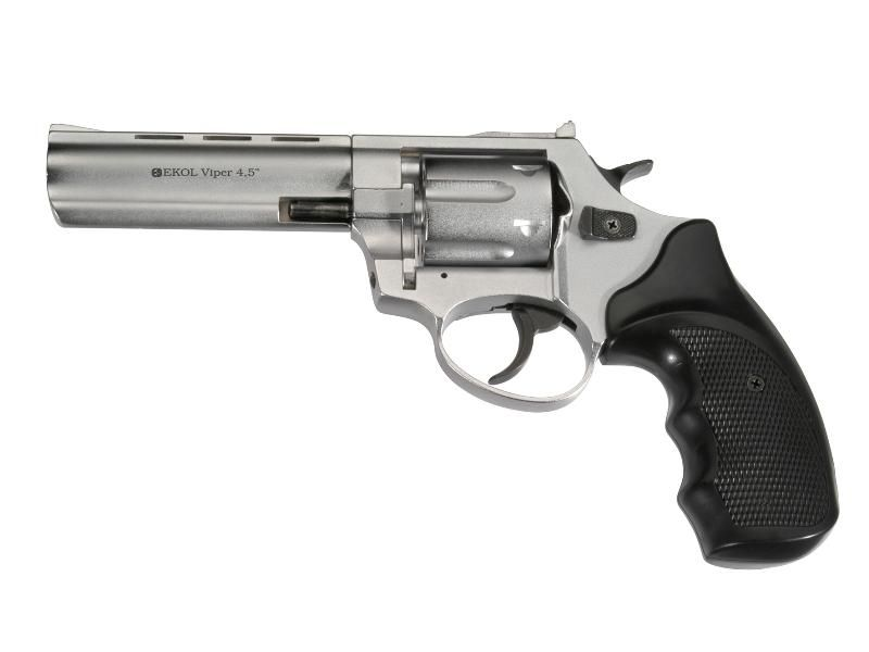 "Flobert revolver EKOL Viper 4,5"" Chrome 4 mm"