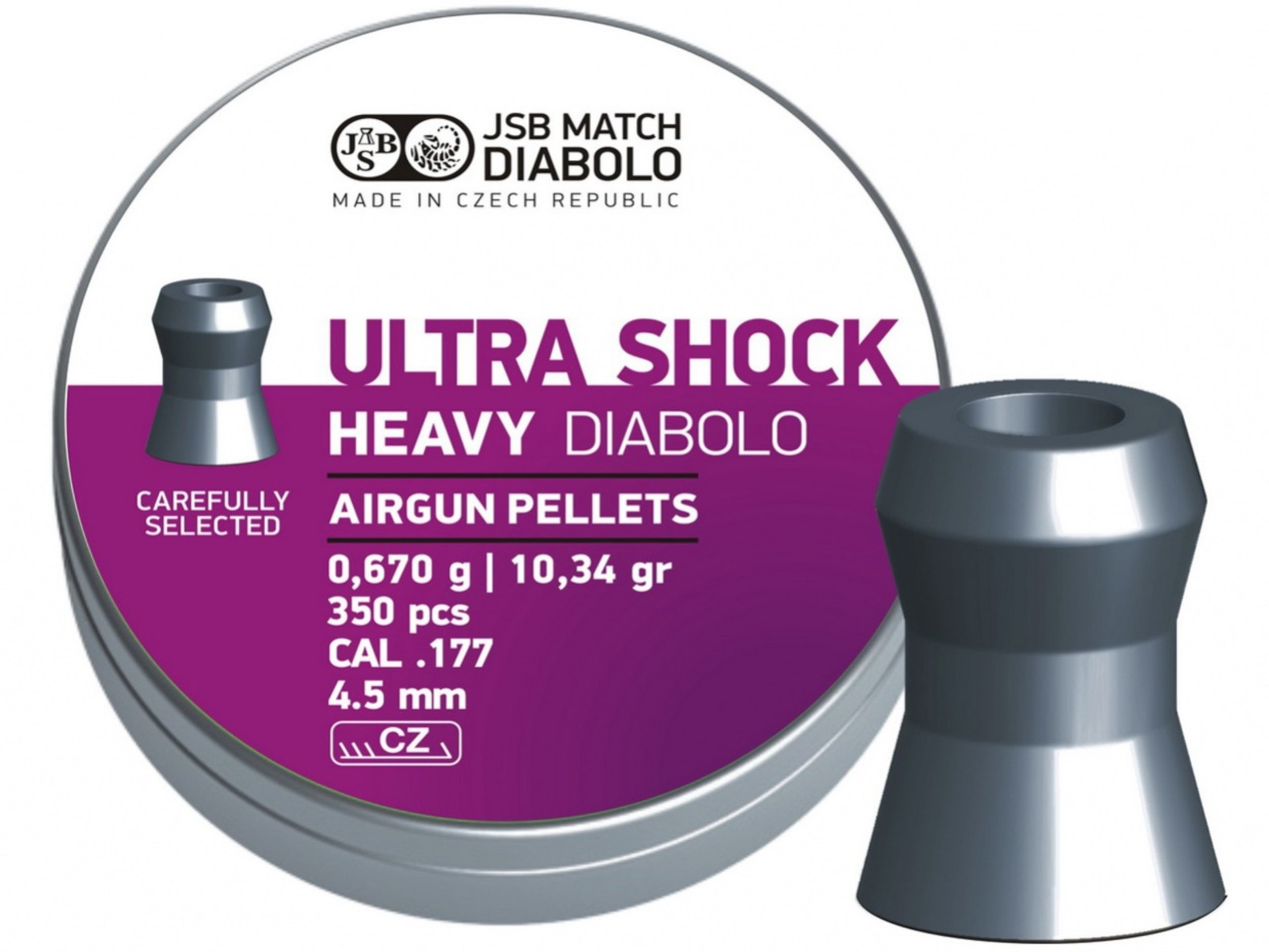 Diabolo JSB Ultra shock heavy, kal. 4,5 mm, 350 ks