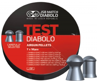 JSB Diabolo Exact TEST kal.4,50mm; 350 ks