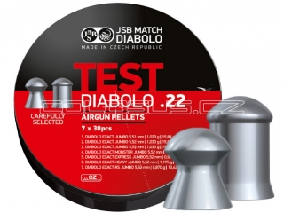Diabolo JSB Exact  TEST .22, 5,5mm 350ks